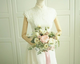 1970s vintage bridal wedding gown