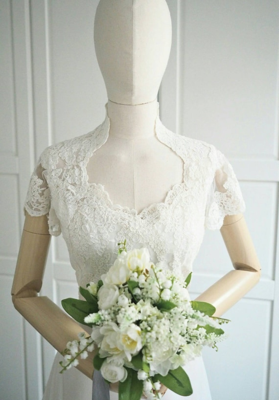 Teeny by Priscilla vintage wedding gown