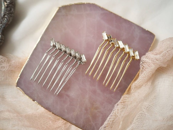 Minimalism bridal crystal hair comb