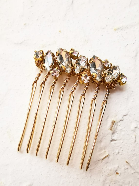 Ella minimalist staking rings inspired crystal hair comb