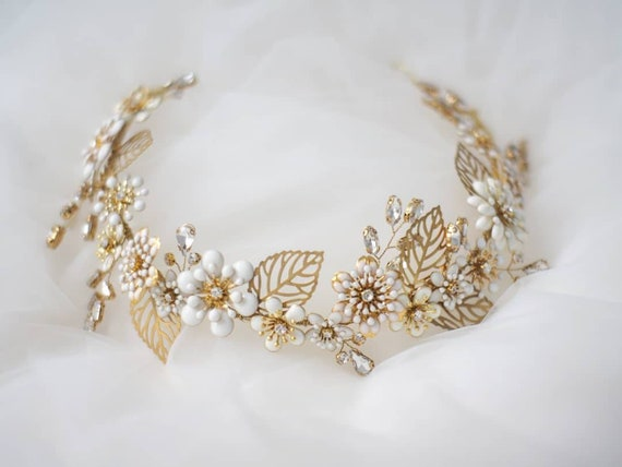 Ashley enamel floral tiara