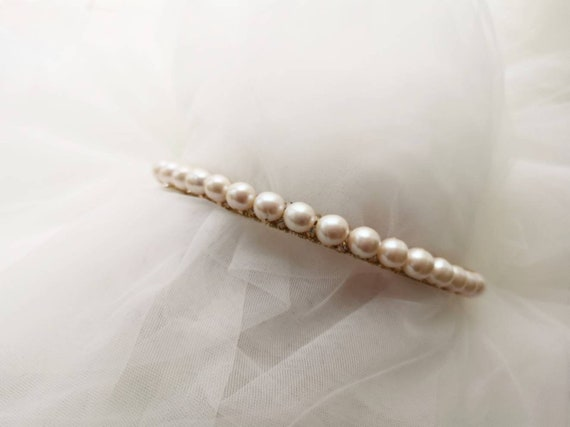 Eleanor baroque fresh water pearl and rhinestones bridal headband