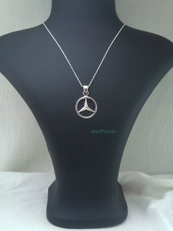 miglior servizio 004cb 894f0 Benz Necklace Handmade Mercedes 925 SilverEtsy L4A35Rj