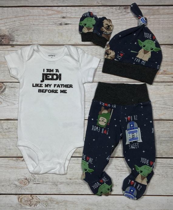 Nouvelle série! ensemble nouveau-né Star wars, va maison tenue jedi bébé ensemble bébé nouveau-né garçon ensemble, ensemble ringard nouveau-né, garçons nouveau-nés vinyle cache-couche ensemble
