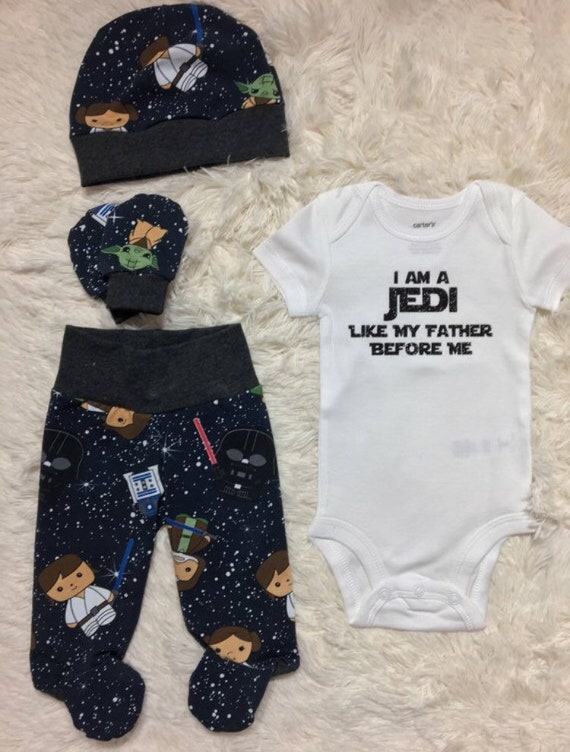 NEW star wars newborn set going home outfit jedi baby set   Etsy