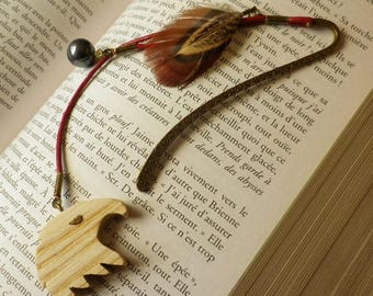 Bookmarks Eagle with its pheasant feather and black bead