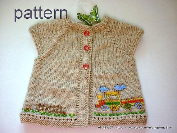 Knitting Baby Patternttern Baby Cardiganitted Baby Etsy