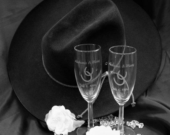 Rustic Wedding Champagne Flutes