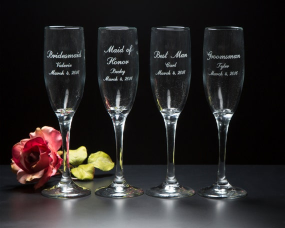 Bridal Party Champagne Flutes