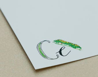 Personalised Letter Stationery - C is for Caterpillar