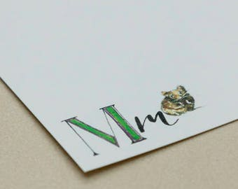 Personalised Letter Stationery - M is for Mouse