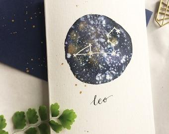 Leo Constellation Greeting Card