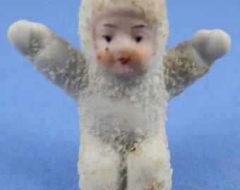 SNOW BABY – Antique Miniture German Snow Baby - Kneeling