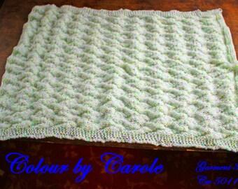 Unisex Chevron baby blanket