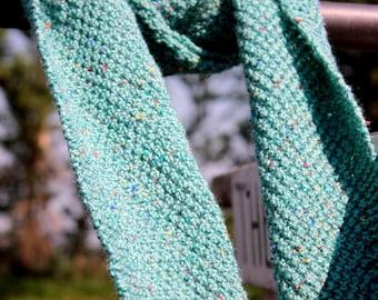 Double Moss stitch scarf