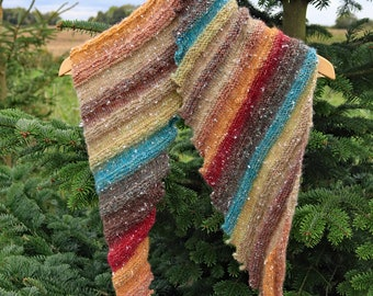 Hand knitted hug in Autumn shades