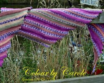 Comfy Dragon tooth Fairground shawl for a hug