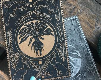 Mandrake, Handprinted Card