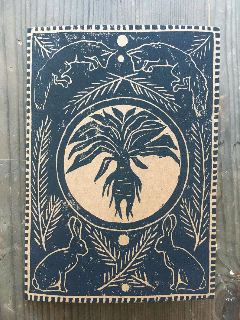 Handprinted Card Mandrake