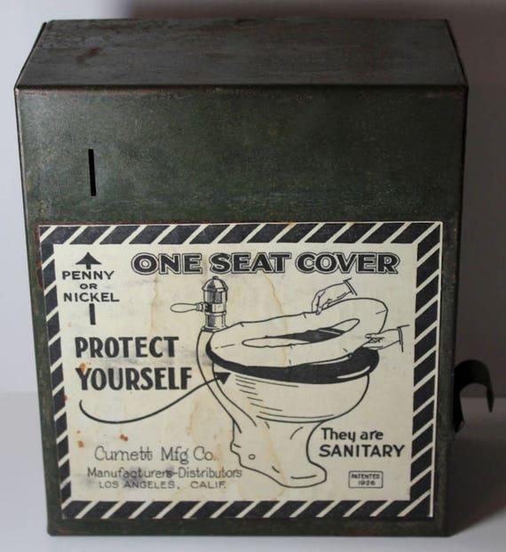 Prime Toilet Seat Cover Dispenser Vintage Metal Cumett Mfg Co Penny Or Nickel Pdpeps Interior Chair Design Pdpepsorg