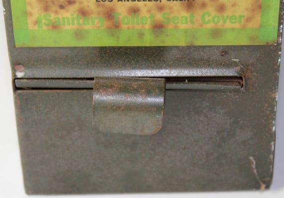 Enjoyable Toilet Seat Cover Dispenser Vintage Metal Cumett Mfg Co Penny Or Nickel Pdpeps Interior Chair Design Pdpepsorg