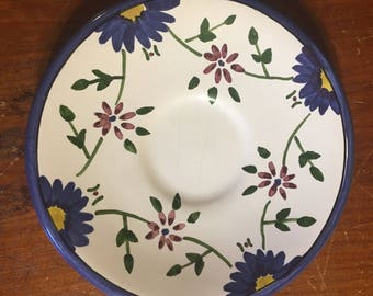 Hand painted Malveira Portuguese saucer