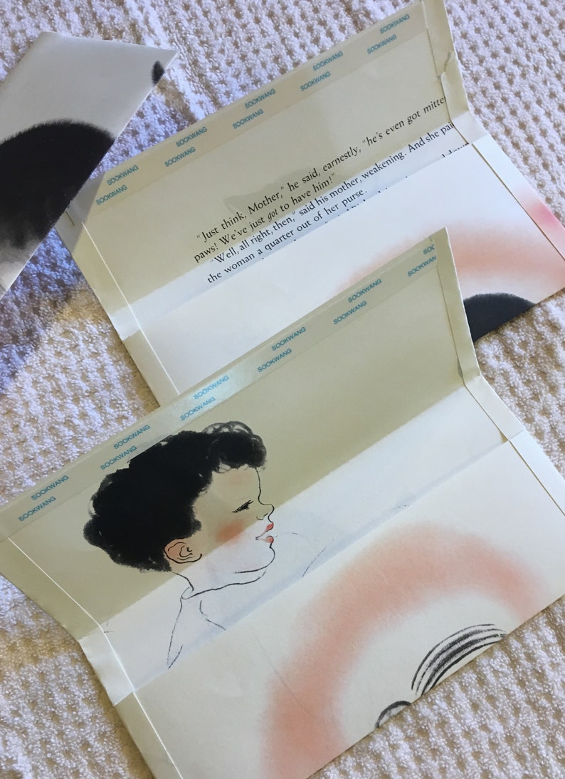 Set of 3 envelopes made from pages of discarded Mittens by Newberry 0765190591
