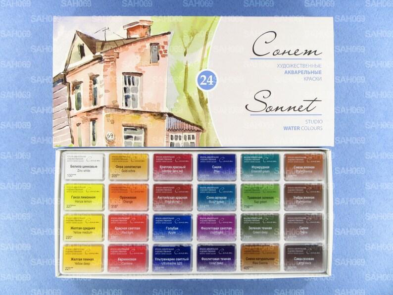 Sonnet Lot de 16 Tubes de Peinture Aquarelle Haute qualit/é pour Choix de 16 ou 24 Couleurs
