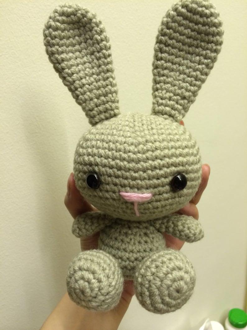Uncinetto Amigurumi Bunny il piccolo coniglio con le orecchie  34e22aefa7f7