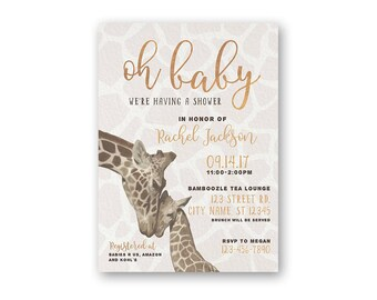 Giraffe baby shower etsy giraffe invite baby shower invitation baby shower invites oh baby shower invitations giraffe baby shower gender neutral filmwisefo