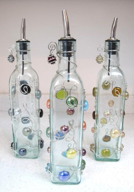 Beaded Oil Bottle Beaded Dish Soap Dispenser Beaded Bottle Etsy Interesting Decorative Dish Soap Bottles