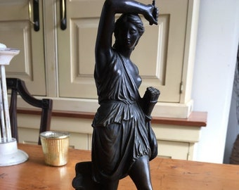 Antique French Bronze Sculpture of Diana The Huntress circa 1880 - 26cm