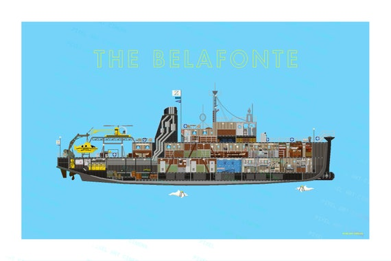 The Life Aquatic The Belafonte | Etsy