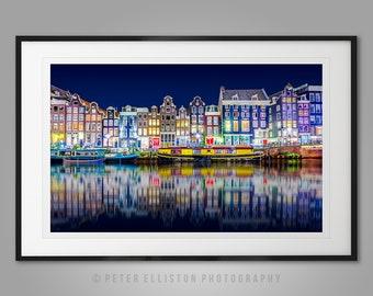 Amsterdam Print - Canal Reflections - Home Interior Wall Art, Travel Photograph, Art Photo Print, Fine Art Photography, Amsterdam Decor