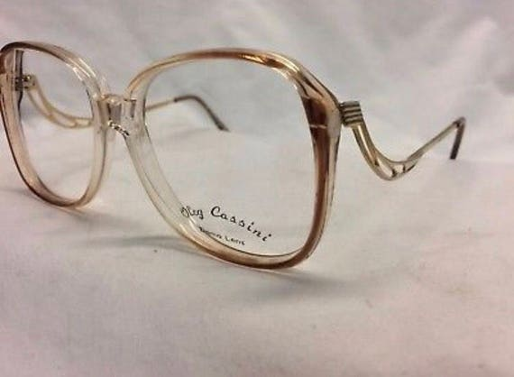 Vintage Oleg Cassini Apricot Color Eyeglass Frames Nos Etsy