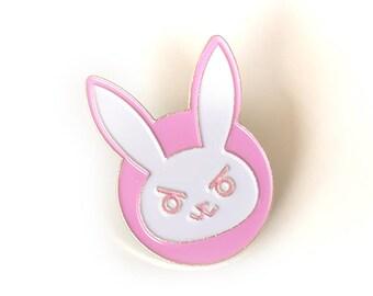 D.Va Rabbit Brass Enamel Pin