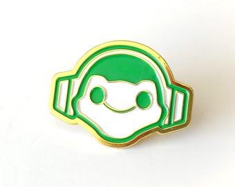 Lucio Frog Brass Enamel Pin