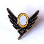 Mercy Wings Brass Enamel Pin