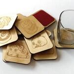 Bunimals Lasercut Wood Coasters