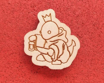 Tonberry, Laser Etched Wood Pin