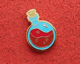 Potion of Bodily Fortitude, Hard Enamel Brass Lapel Pin