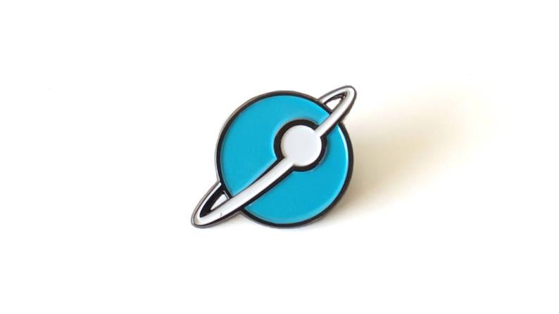Winston Lunar Colony Brass Enamel Pin image 0