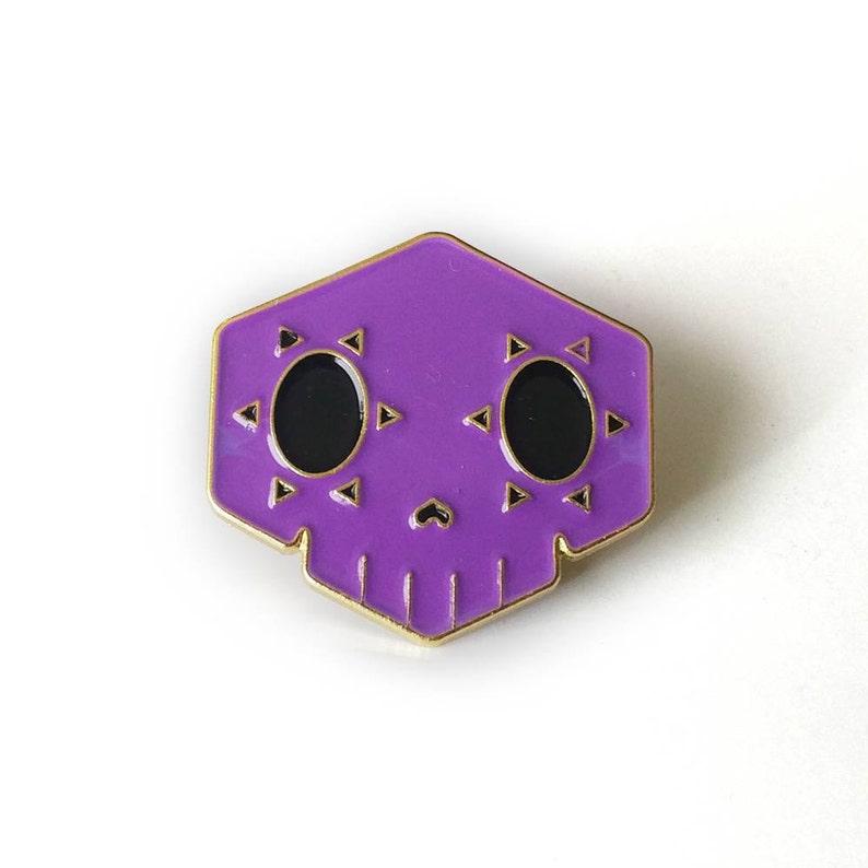 Sombra Brass Enamel Pin image 0