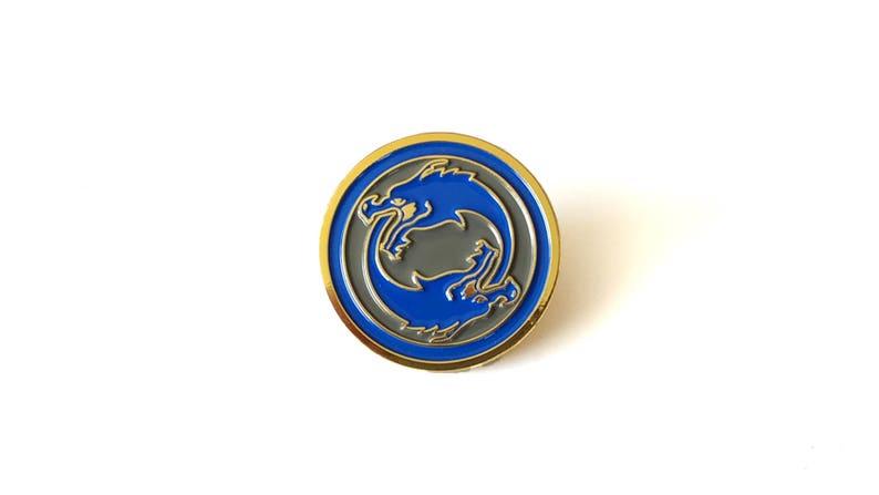 Hanzo Dragonstrike Brass Enamel Pin image 0
