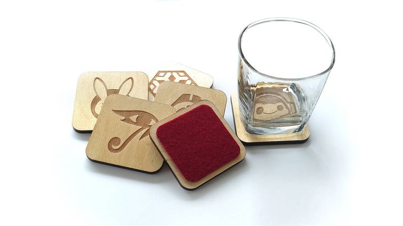 Overwatch Lasercut Wood Coasters image 0