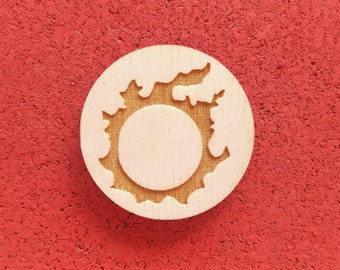 Realm Reborn, Laser Etched Wood Pin