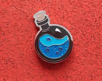 Mega Potion of Mana, Hard Enamel Brass Lapel Pin