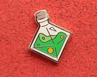 Essence of Spotted Frog, Hard Enamel Brass Lapel Pin