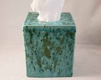 Kleenex Tissue Square Box Cover Made to order Handmade Ceramics Pottery (many colors available)