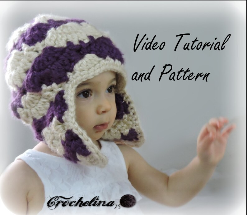 fa97a4bec6c Video Tutorial and Pattern   Toddler Bloom Stitch Ear Flap